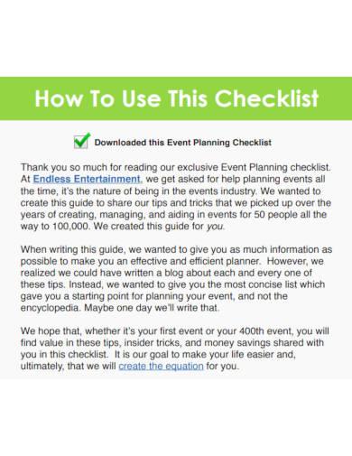 event planning checklist in pdf