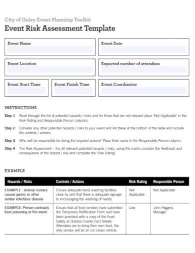 event planning risk assessment