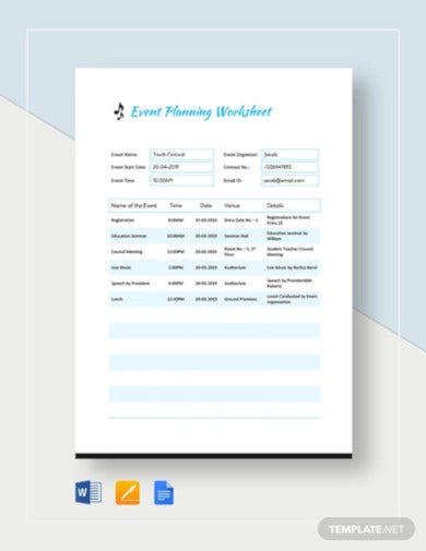 event planning worksheet template1