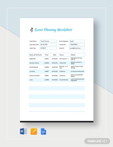 event planning worksheet template2