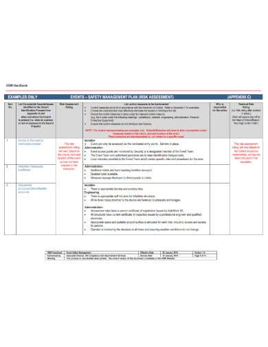event risk assessment plan