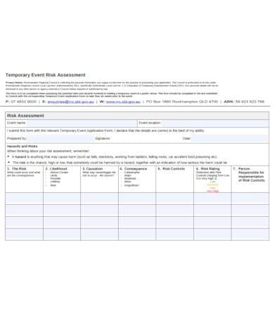 event risk assessment in pdf