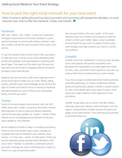event social media strategy