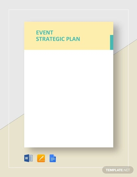 event strategic plan template