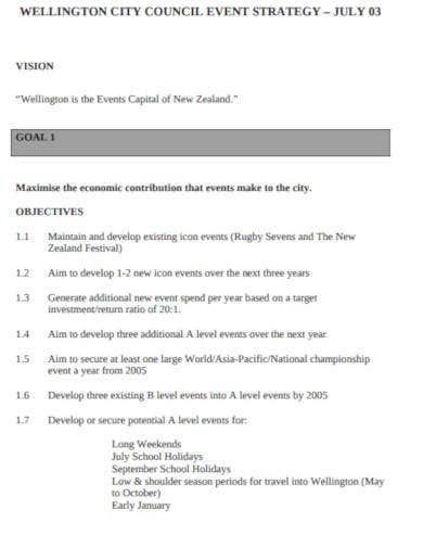 event strategy template in pdf