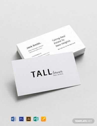 expert real estate sales business card template