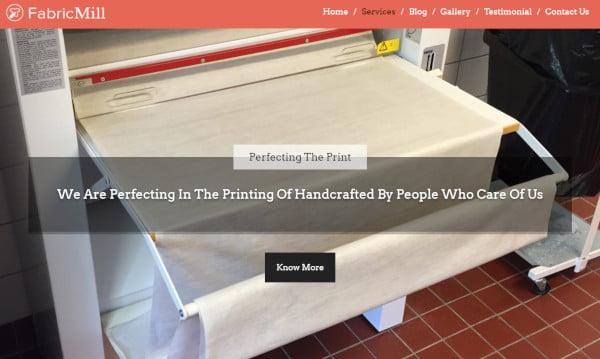 fabric mill seo friendly wordpress theme