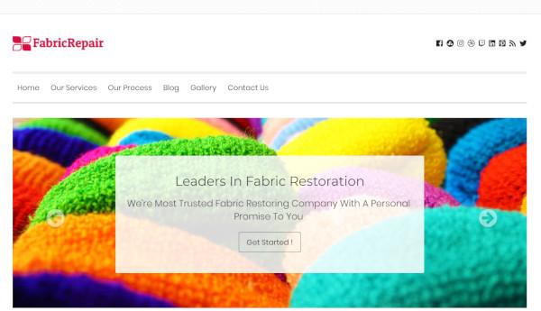 fabric repair html5 and css3 wordpress theme