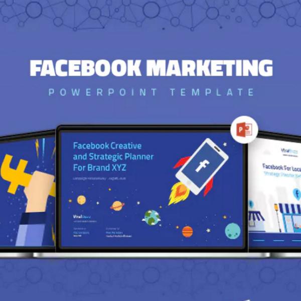 facebook marketing powerpoint presentation layout