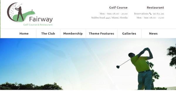 fairway – fully responsive wordpress theme