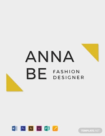fashion designer marketing logo sample