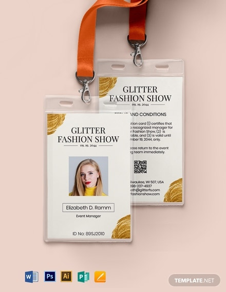 fashion event id card
