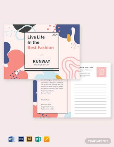 fashion event postcard template1