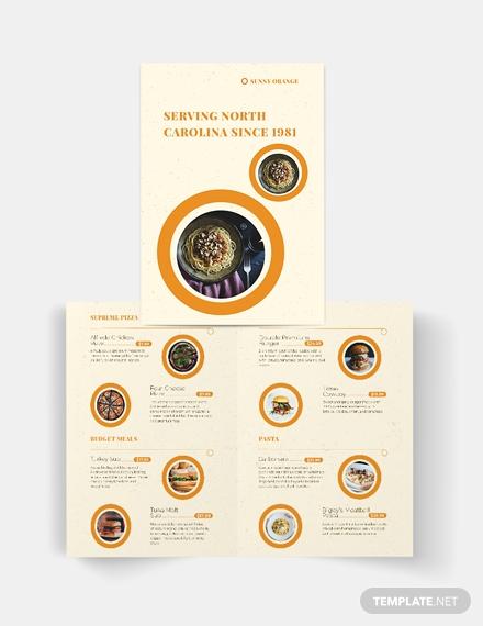 fast food restaurant brochure format