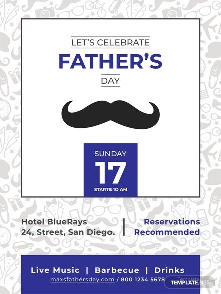 fathers day celebration poster layout