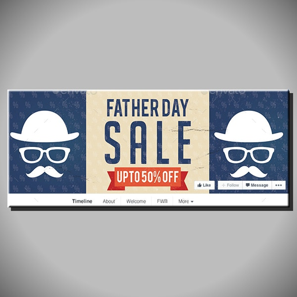 fathers day sale cover template
