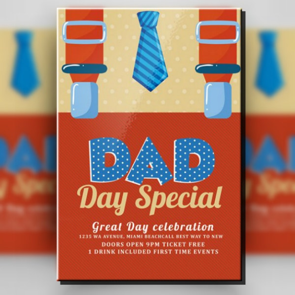 Father's Day Special Poster Template