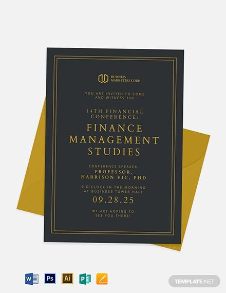 financial management seminar invitation template