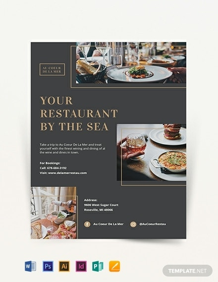 fine dining restaurant flyer template