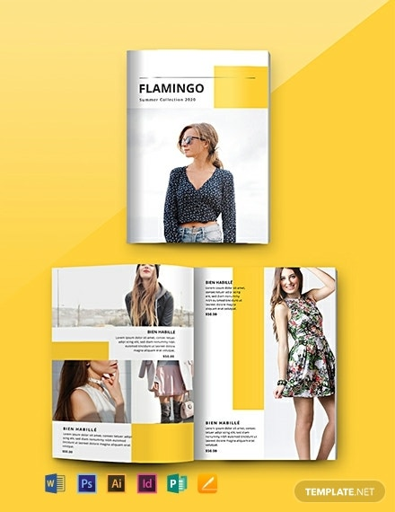 flamingo fashion product catalog layout