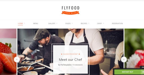fly food – multilingual wordpress theme
