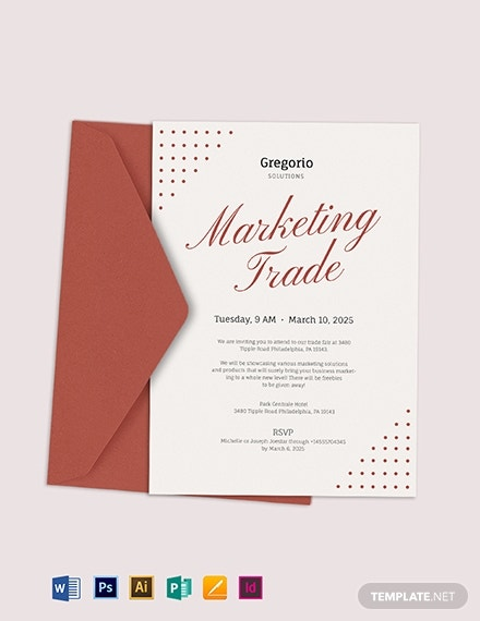 formal business event invitation sample