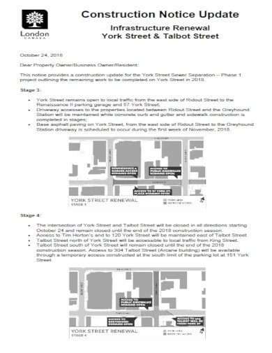 formal construction notice template