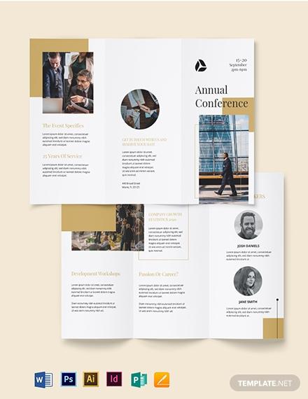 formal corporate event brochure sample