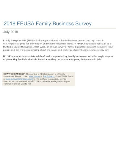 formal family business survey in pdf