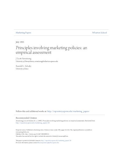 formal marketing policy in pdf
