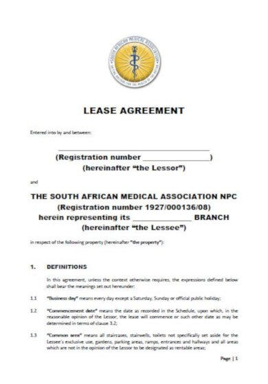 formal medical lease agreement
