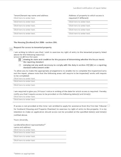 formal property inspection letter template