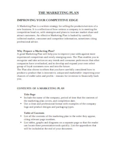 formal restaurant marketing plan template