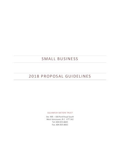 formal small business proposal template
