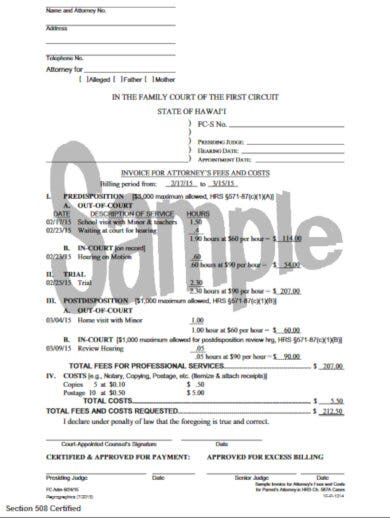 formal template for attorney invoice