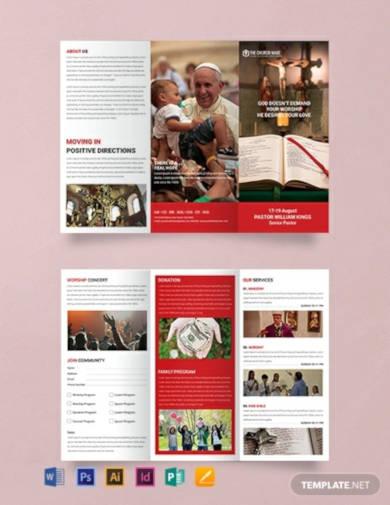 free a3 sample church brochure