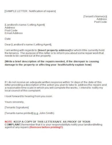 10+ Best Tenant Complaint Letter Templates - PSD, PDF