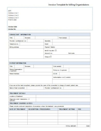 free billing invoice information template