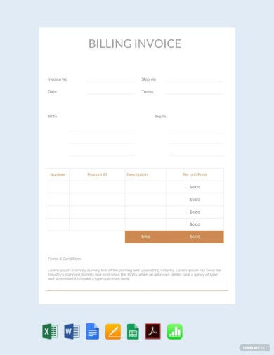 free billing invoice template