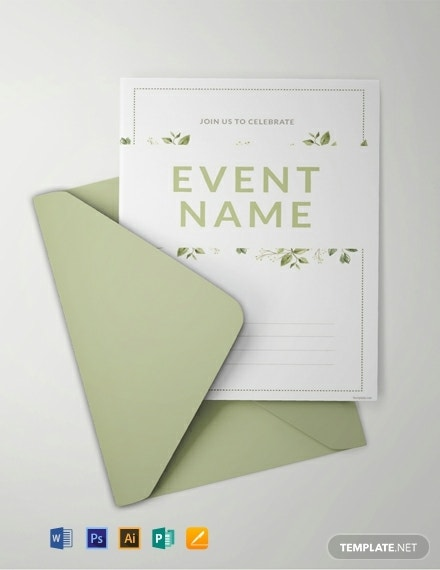 free blank event invitation template