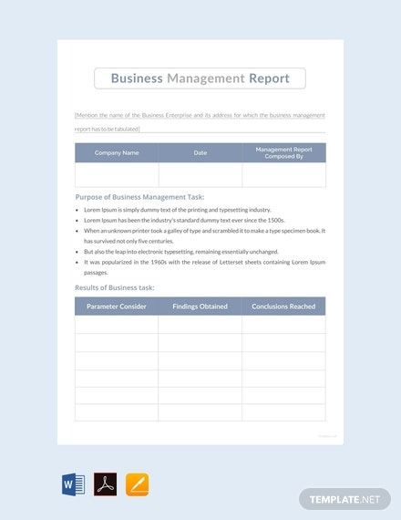 free business management report template 440x570 1