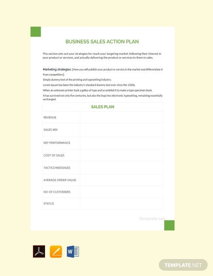 free business sales action plan template1
