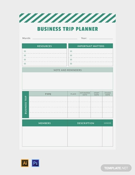 free business trip planner template 440x570 1