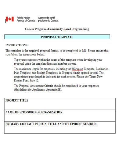 free cancer fundraising proposal template