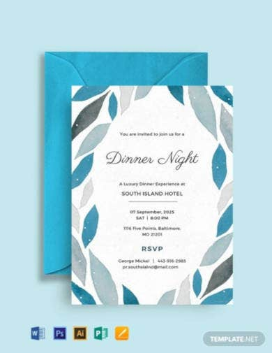 free company dinner invitation