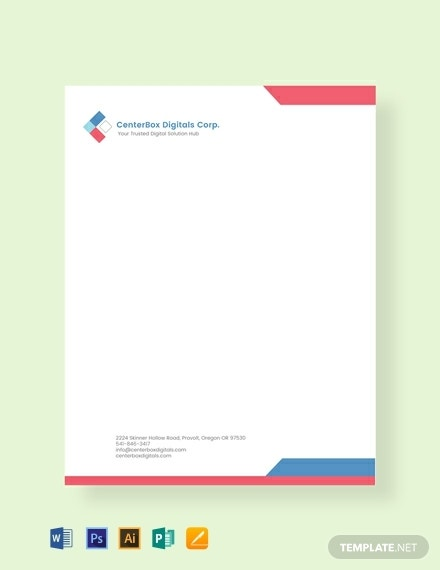 free company letterhead template 440x570 1