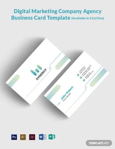 free digital marketing company agency business card template