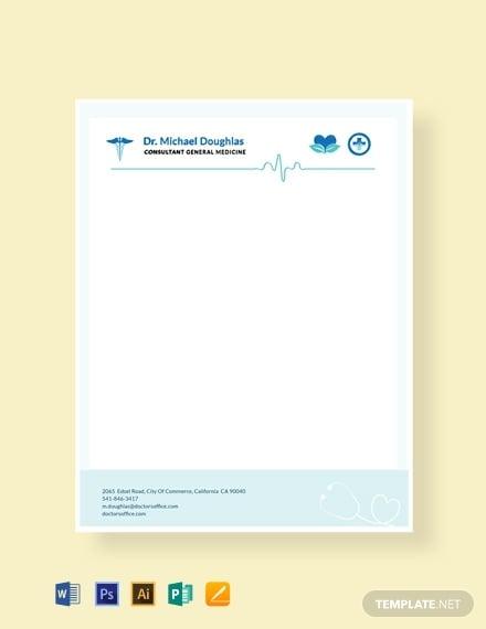 free doctor letterhead format 440x570 1