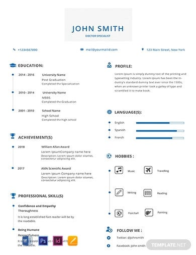 free-doctor-medical-resume-template