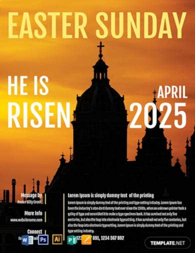 free easter church flyer